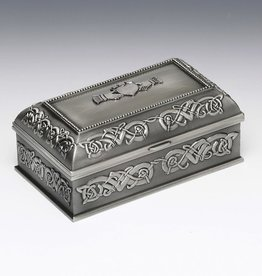 Pewter Claddagh Jewelry Box- Medium