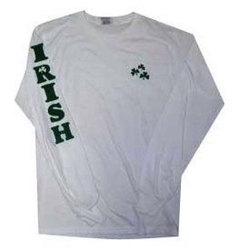 Kids Shamrock Crest & IRISH Long Sleeve T-Shirt
