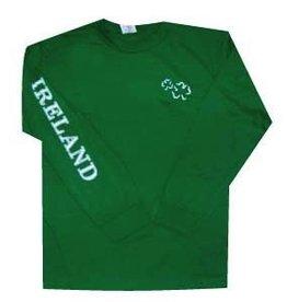 Shamrock Crest & IRELAND Long Sleeve T-Shirt