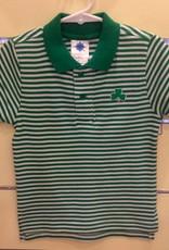 Striped Polo Shirt w/ Shamrock