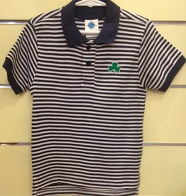 Striped Polo Shirt w/ Shamrock