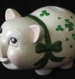 Shamrock Piggy Bank - Medium