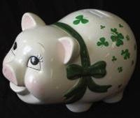 Shamrock Piggy Bank - Medium