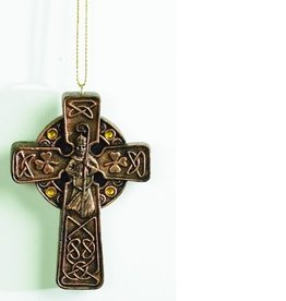 St. Patrick Cross Ornament w/ Card