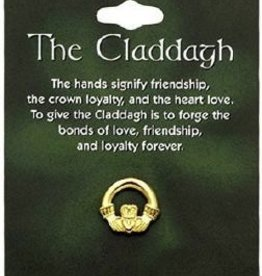 Small Gold Claddagh Tack Pin