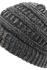 Multi Knit Beanie Hat, Black Multi