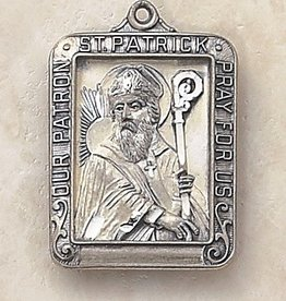 "St. Patrick Patron Saint Medal, 24"" Chain"