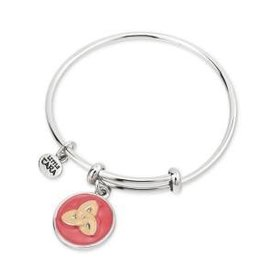 Rhodium Enamel Trinity Kids Bangle