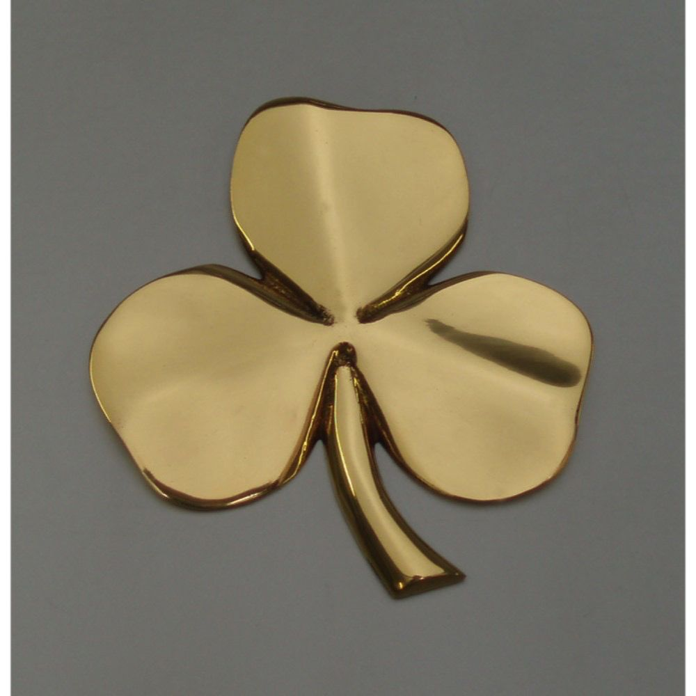 Shamrock Wall Hanging, Brass