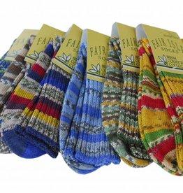 Fair Isle Socks- Large