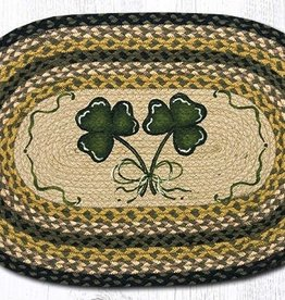 Capitol Earth Rugs Shamrock Oval Patch Rug, 20x30 in.