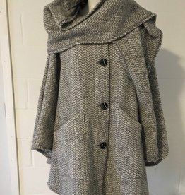 Branigan Weavers Long Cape with Detachable Hood and Scarf
