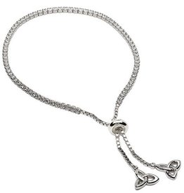 S/S CZ Trinity Bracelet