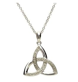 Celtic Trinity Diamond Set Pendant