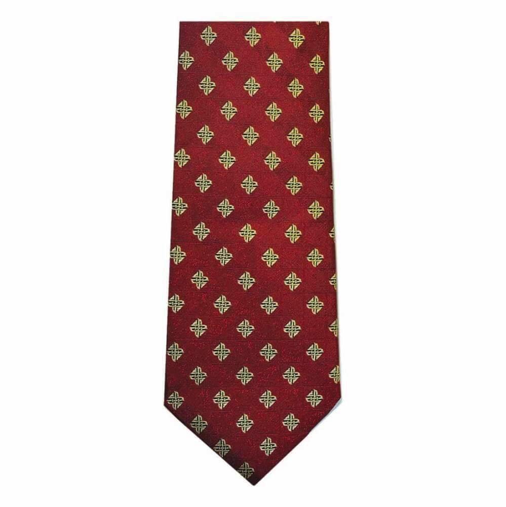 Red Celtic Origins Silk Tie
