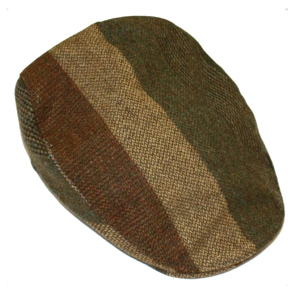 Donegal Touring Cap Striped Tweed