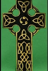 Small Black/Brass Celtic Cross