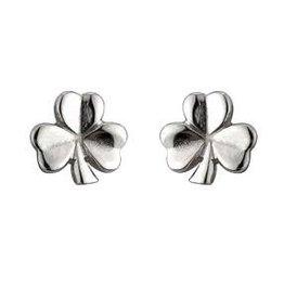 S/S Shiny Shamrock Stud Earrings