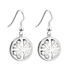S/S Round Trinity Knot Drop Earrings