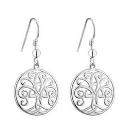 S/S Tree of Life Drop Earrings