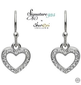 S/S Swarovski Heart Drop Earrings
