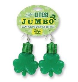 DM Merchandising Jumbo Flashing Shamrock Earrings