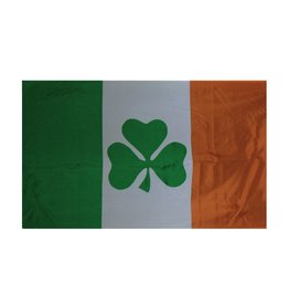 3x5 Ireland Flag with Shamrock