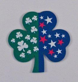 "Irish American Shamrock Magnet - 2"""