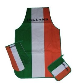 Irish Flag Apron & Oven Mitt Set