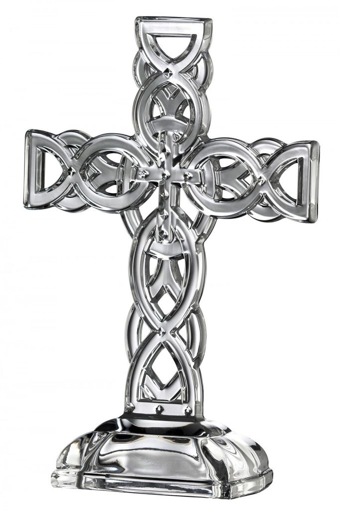 "Galway Crystal 10.5"" Celtic Cross"