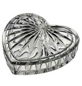 Galway Crystal Heart Trinket Box 4x4