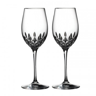 Waterford Lismore Essence Wine 14oz Pair