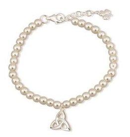 Communion Pearl & Trinity Knot Bracelet