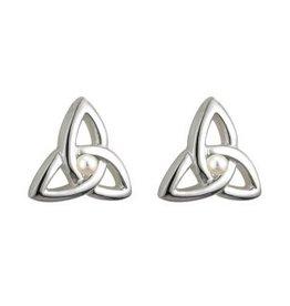 Communion Trinity Knot Stud Earrings