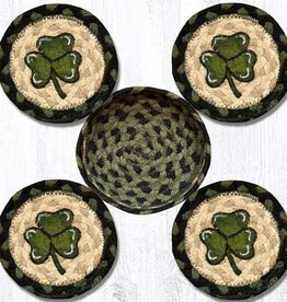 Capitol Earth Rugs Shamrock Coaster Set