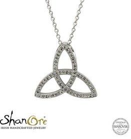S/S SW Trinity Knot Necklace