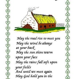 Tea Towel - An Irish Blessing/Cottage