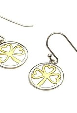 S/S GP SHAMROCK EARRINGS