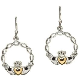 S/S GP Claddagh Earrings