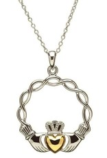 S/S GP Claddagh Wave Pendant