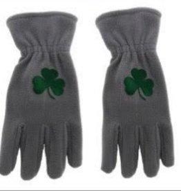 Shamrock Grey Fleece Gloves
