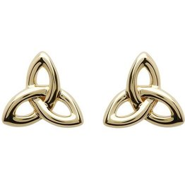 10kt Gold Trinity Stud Earrings