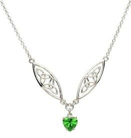 S/S Trinity Green Heart Pendant