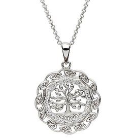 S/S Swarovski Tree of Life Necklace
