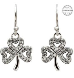 S/S Swarovski Shamrock Drop Earrings