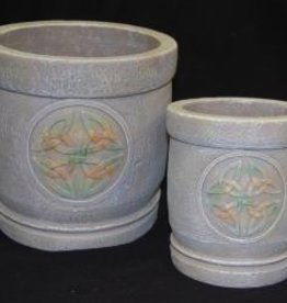 Round Celtic Planter Set of 2