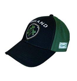 Ireland Shamrock Baseball Cap, Green/Black