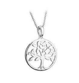 S/S Tree of Life Pendant