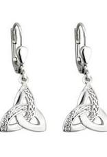 S/S Celtic Trinity Knot Drop Earrings