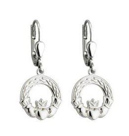 S/S Celtic Claddagh Drop Earrings